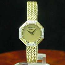 Chopard 18kt 750 Gold Handaufzug Damenuhr Mit Diamant Besatz /...