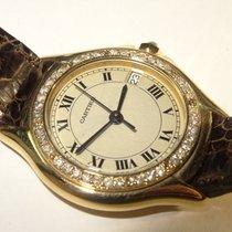 Cartier Santos COUGAR 18K Gold Watch with Diamond Bezel  Ref....