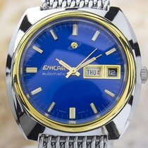 Enicar Automatic Gold Plated Stainless Steel Swiss Mens Dress...