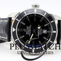 Breitling SuperOcean Heritage 46 mm Black Dial Leather