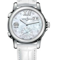 Ulysse Nardin Classic Dual Time Stainless steel & Diamonds...