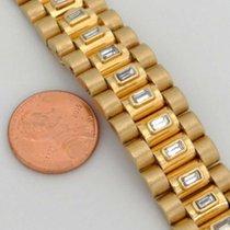 Unbranded 18k Yellow Gold 3 1/2ct Baguette Diamond President...