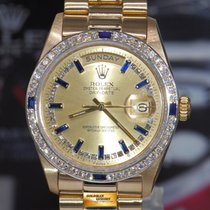 Rolex Oyster Day-date President 18k Yellow Gold Diamonds &...