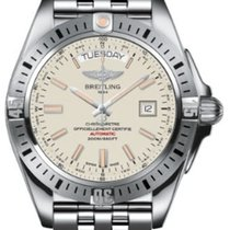 Breitling A45320B9-G797SS Galactic Day/Date 44mm Automatic in...