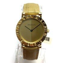 Tiffany & Co. Atlas 18k Gold Ladies Watch W/ Diamonds...