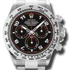 Rolex COSMOGRAPH DAYTONA WHITE GOLD ON BRACELET BLACK &...