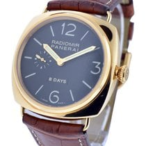 Panerai PAM00197 Radiomir 8 Day in Rose Gold - on Brown...