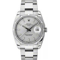 Rolex Oyster Perpetual Date 34 115210-SLVSO Silver Index...
