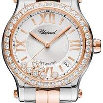 Chopard Happy Sport Silver Guilloche Dial Ladies 278559-6004