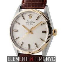 Rolex Air-King Vintage Steel & Yellow Gold 34mm Silver...