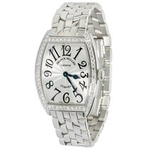 Franck Muller CURVEX STAINLESS STEEL AND DIAMOND WATCH