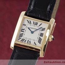 Cartier Lady 18k (0,750) Gold Tank Damenuhr Karrée