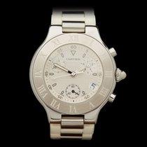 Cartier Must de Cartier 21 Chronograph Stainless Steel Unisex...