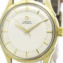 Omega Vintage Omega Automatic Cal 351 14k Solid Gold Leather...