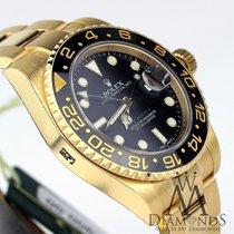 Rolex Gmt Master Ii Black Index Dial Oyster Bracelet 18kt...