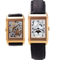 Jaeger-LeCoultre Sun and Moon Reverso Silver Dial in Rose Gold...