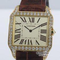 卡地亚 (Cartier) Santos Dumont 2649 Diamond Bezel Box Papers...