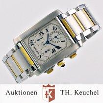 Cartier Tank Francaise Chronoflex Datum Chronograph Gold Stahl