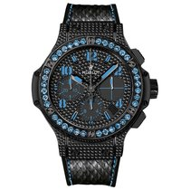 Hublot Big Bang 41mm Ladies Black Fluo Stainless Steel and...