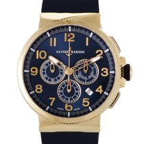 Ulysse Nardin Marine Chronograph Mens Automatic Watch 1506-150