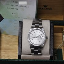 Rolex Oyster Perpetual Date Stainless Steel 15210 Engine Turned