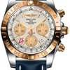 Breitling Chronomat 44 GMT Steel and Gold on Leather Deployant