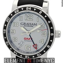 Graham Silverstone Time Zone Stainless Steel Silver Dial Ref....