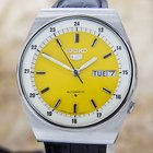 Seiko 5 Yellow Dial Automatic Made In Japan Authentic Vintage...