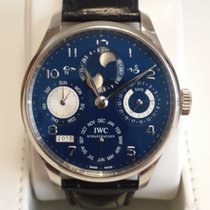 IWC Portuguese Perpetual Calendar Moon phase White Gold