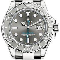 Rolex Yacht-Master 37 268622 Dark Rhodium Platinum Stainless...