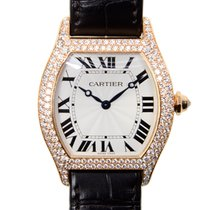 Cartier Tortue 18 K Rose Gold With Diamonds Silvery White...
