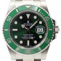 Rolex Submariner 116610LV Green Ceramic Men's 40mm Hulk...