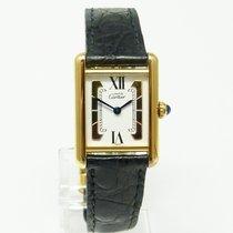 Cartier TANK Must de Cartier Silber vergoldet Quarz kleines...