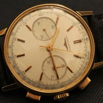 Longines 30 ch yellow gold case chronograph top quality
