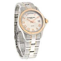 Raymond Weil Parsifal Mens Day/Date 2Tone Swiss Automatic...