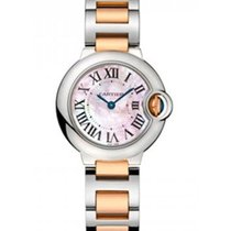 Cartier W2BB0009 Ballon Bleu Ladies Automatic in Steel and...