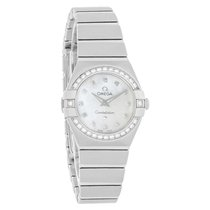Omega Constellation Ladies Diamond Quartz Watch 123.15.24.60.5...