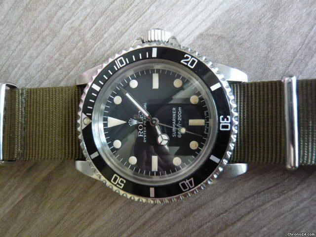 Rolex Submariner 5513 matte / Maxi dial RSC 02/2011