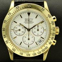 Zenith Chronograph El Primero Porcelain Dial, 18 kt yellow gold