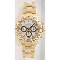 Rolex Daytona 116528 18K Yellow Gold With Factory White...