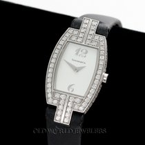 Tiffany & Co Lady's Diamond Tonneau Cocktail Watch.