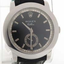 Rolex Cellini Platinum Ref. 5241 On Leather W/ Deployment...