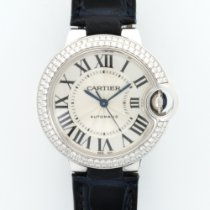 Cartier White Gold Ballon Bleu Automatic Diamond Watch WE902037