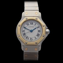 Cartier Santos Stainless Steel/18k Yellow Gold Ladies 187902