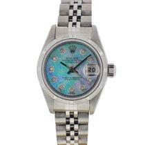 Rolex 69190 Ladies Datejust Stainless Steel MOP Diamond Dial...