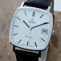 Omega Geneve 1970s Swiss Made Vintage Auto Stainless Steel...