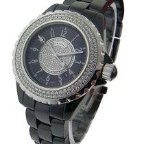 Chanel J12 Black Small Size Diamond Bezel H1708