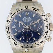 Rolex 116509 Daytona Cosmograph Blue Dial White Gold