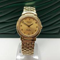 Rolex CELLINI 6622 18K GOLD CASE & BRACELET DIAMOND SET BEZEL
