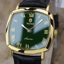 Waltham Men's Swiss Made 1970s Gold Plated Manual Luxury...